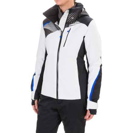 Obermeyer Kitzbuhel Ski Jacket - Waterproof, Insulated (For Women) in White/Black/Blck Print - Closeouts