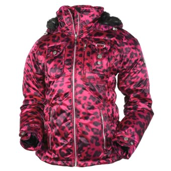 Obermeyer Leighton Jacket - Insulated (For Women) in Fuschsia Cheetah Print
