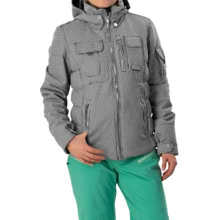 Obermeyer Leighton Luxe Ski Jacket - Waterproof, Insulated (For Women) in Mini Houndstoot - Closeouts