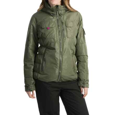 Obermeyer Leighton Luxe Ski Jacket - Waterproof, Insulated (For Women) in Stone Green - Closeouts