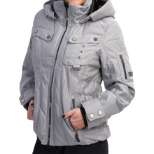 Obermeyer Leighton Ski Jacket - Waterproof, Insulated (For Women) in Ebony Herringbone - Closeouts
