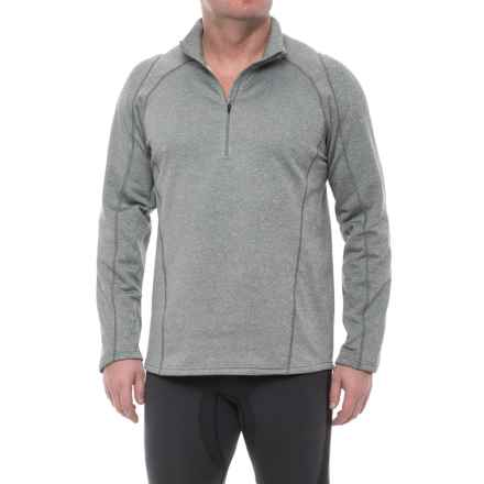 Obermeyer Marathon Elite 150 Base Layer Top - Zip Neck, Long Sleeve (For Men) in Heather Grey - Closeouts