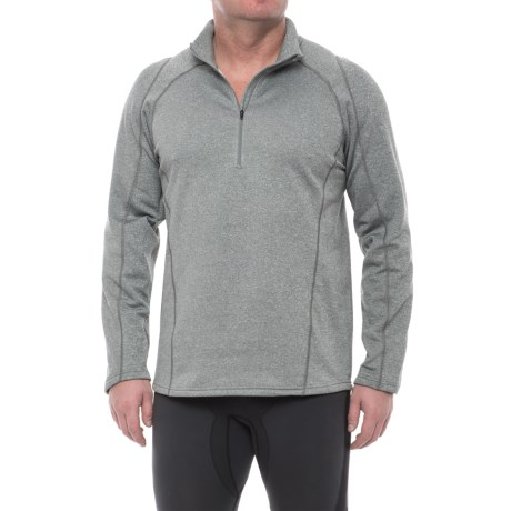Obermeyer Marathon Elite 150 Base Layer Top - Zip Neck, Long Sleeve (For Men) in Heather Grey