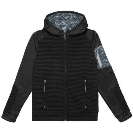 Obermeyer Match Hoodie - Full Zip (For Big Boys) in Black/Grey - Closeouts