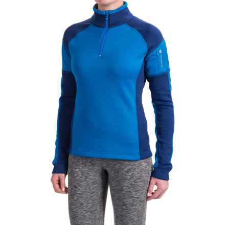 Obermeyer Nova Elite Shirt - Zip Neck, Long Sleeve (For Women) in Stellar Blue - Closeouts