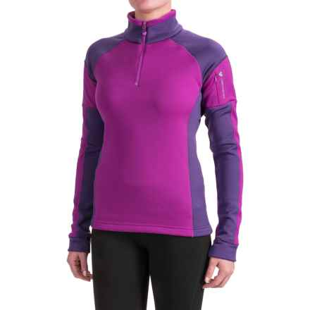 Obermeyer Nova Elite Shirt - Zip Neck, Long Sleeve (For Women) in Violet Vibe - Closeouts