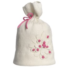 Obermeyer Paper Bag Knit Beanie Hat (For Little Girls) in Marshmallow - Closeouts