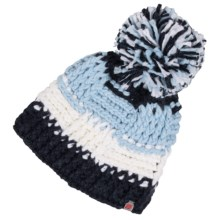 Obermeyer Patchwork Beanie (For Big Girls) in Blue Iris - Closeouts