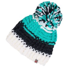 Obermeyer Patchwork Beanie (For Big Girls) in White - Closeouts