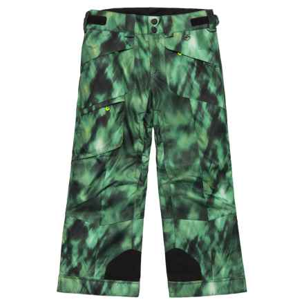 Obermeyer Porter Ski Pants - Waterproof, Insulated (For Big Boys) in Smoke Screen Pr - Closeouts