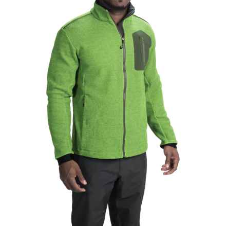 Obermeyer Powderhorn Sport Knit Fleece Jacket (For Men) in Glowstick - Closeouts