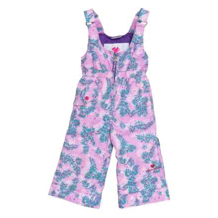 Obermeyer Printed Snoverall Snow Bibs - Waterproof, Insulated (For Toddler, Little and Big Girls) in Lavender/Blue - Closeouts