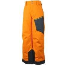 Obermeyer Pro Ski Pants - Waterproof, Insulated (For Little and Big Boys) in Habanero/Gray - Closeouts