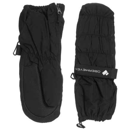 Obermeyer Puffy Down Mittens - Waterproof, Insulated (For Kids) in Black - Closeouts