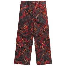 Obermeyer Racer Snow Pants - Insulated (For Little Boys) in Red Schematic Print - Closeouts