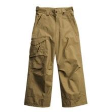 Obermeyer Rail Yard SH Snow Pants - Insulated, Husky Fit (For Girls) in Khaki - Closeouts