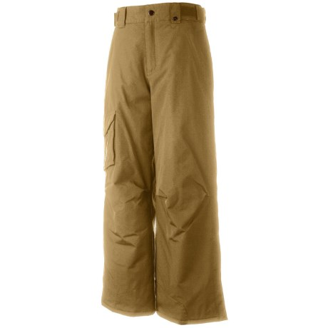 Obermeyer Rail Yard Snow Pants (For Boys) in Khaki