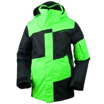Obermeyer Rebel Ski Jacket - Waterproof (For Little and Big Boys) in Glowstick - Closeouts