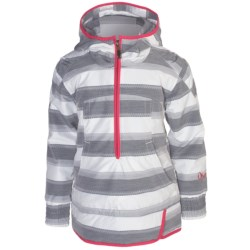 Obermeyer Revival Jacket - Insulated, Zip Neck (For Girls) in Quarry Stripe Jacqrd