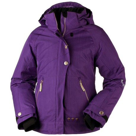Obermeyer Rival Jacket - Insulated (For Girls) in Ebony
