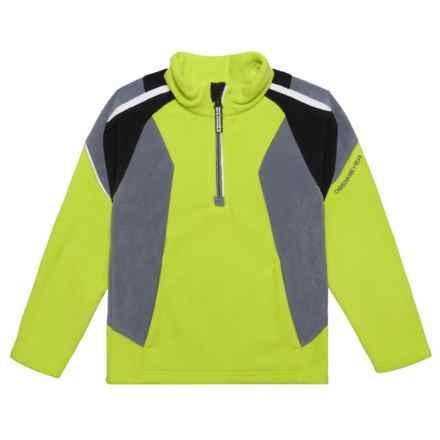 Obermeyer Ruckus Fleece Shirt - Zip Neck, Long Sleeve (For Little Boys) in Screamin Green - Closeouts