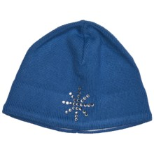 Obermeyer Sadie Knit Beanie Hat (For Girls) in Diva Blue - Closeouts