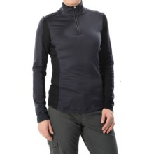 Obermeyer Sage Base Layer Top - Zip Neck, Long Sleeve (For Women) in Black - Closeouts