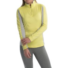 Obermeyer Sage Base Layer Top - Zip Neck, Long Sleeve (For Women) in Daffodil - Closeouts