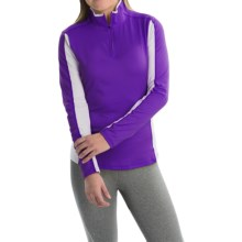 Obermeyer Sage Base Layer Top - Zip Neck, Long Sleeve (For Women) in Purple Reign - Closeouts