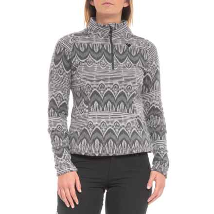 Obermeyer Siena Fleece Pullover Shirt - Zip Neck, Long Sleeve (For Women) in Ebony Artisan Print - Closeouts