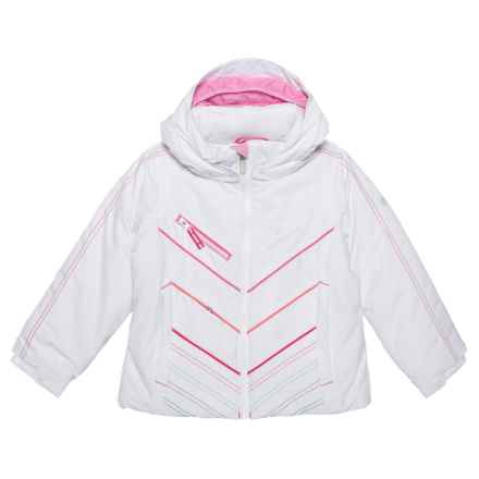 Obermeyer Sierra Jacket - Insulated, Waterproof (For Toddler, Little and Big Girls) in White - Closeouts