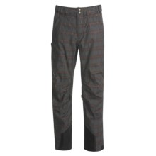 Obermeyer Silverton Plaid Shell Snow Pants (For Men) in Ebony Plaid - Closeouts