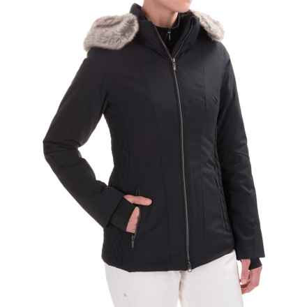 Obermeyer Siren Faux-Fur-Trim Ski Jacket - Waterproof, Insulated (For Women) in Black - Closeouts