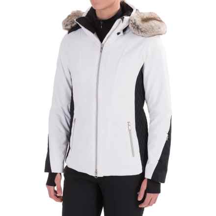 Obermeyer Siren Faux-Fur-Trim Ski Jacket - Waterproof, Insulated (For Women) in White - Closeouts