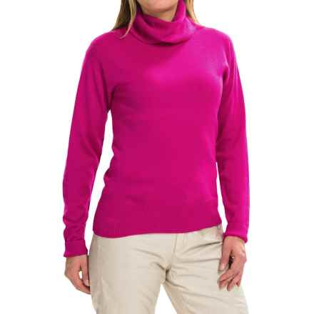 Obermeyer Ski Turtleneck Sweater - Merino Wool Blend, Long Sleeve (For Women) in Wild Berry - Closeouts