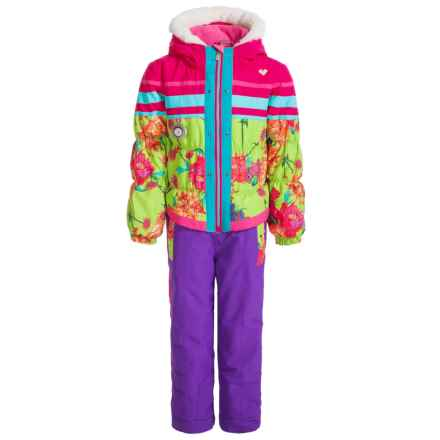 Obermeyer Skiter Snowsuit - Insulated (For Little Girls) in Flower Burst - Closeouts