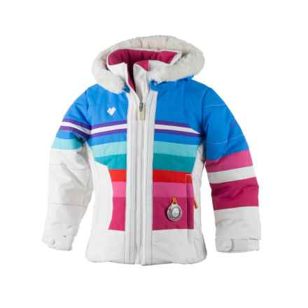 Obermeyer Snowdrop Ski Jacket - Waterproof, Insulated (For Little Girls) in White - Closeouts