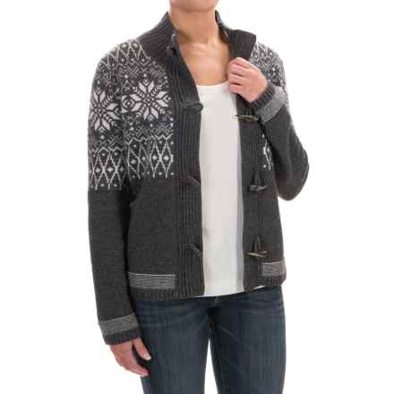 Obermeyer Soraya Cardigan Sweater - Lambswool Blend (For Women) in Black - Closeouts