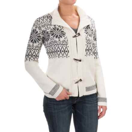 Obermeyer Soraya Cardigan Sweater - Lambswool Blend (For Women) in White - Closeouts