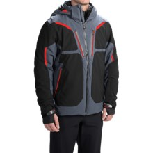 Obermeyer Spartan Ski Jacket - Waterproof, Insulated (For Men) in Ebony - Closeouts