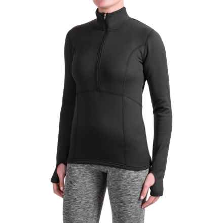 Obermeyer Splendid Elite Shirt - Zip Neck, Long Sleeve (For Women) in Black - Closeouts