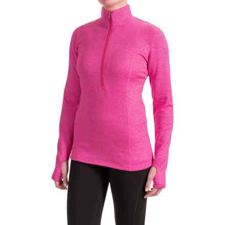 Obermeyer Splendid Elite Shirt - Zip Neck, Long Sleeve (For Women) in Hot Pink - Closeouts
