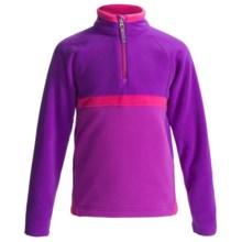 Obermeyer Starlet Fleece Pullover Jacket - Zip Neck, Long Sleeve (For Girls) in Iris Purple - Closeouts