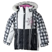 Obermeyer Sunrise Jacket - Insulated (For Little Girls) in Black - Closeouts