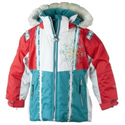 Obermeyer Sunrise Jacket - Insulated (For Little Girls) in Ocean Snowflake Print