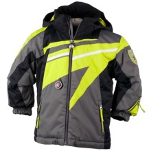 Obermeyer Super G Jacket - Insulated (For Little Boys) in Lime Punch - Closeouts