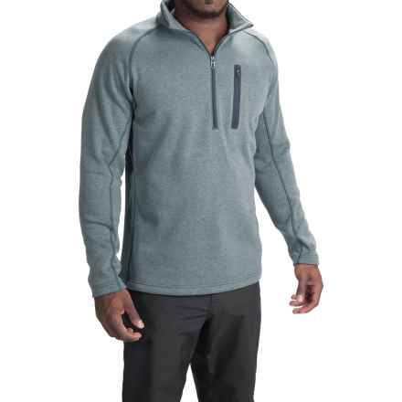 Obermeyer Swift Luxury Fleece Shirt - Zip Neck, Long Sleeve (For Men) in Eclipse - Closeouts