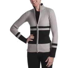 Obermeyer Sydney Sweater - Mock Neck (For Women) in Platinum - Closeouts