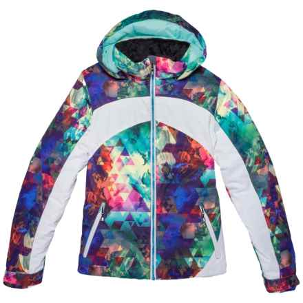 Obermeyer Tabor Printed Ski Jacket - Waterproof, Insulated (For Big Girls) in Fractal Floral - Closeouts