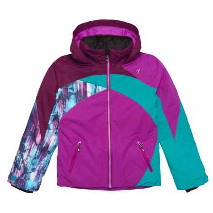 Obermeyer Tabor Ski Jacket - Waterproof, Insulated (For Big Girls) in Violet Vibe - Closeouts